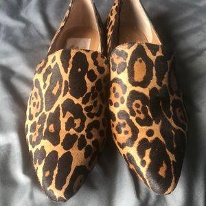 Calvin Klein leopard flats